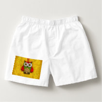 Owl painting boxers