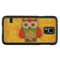 Owl painting carved maple galaxy s5 slim case