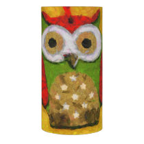 Owl painting flameless candle