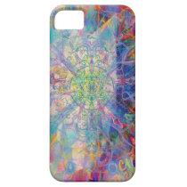 Owl Painting in Cool Gem Tones iPhone SE/5/5s Case