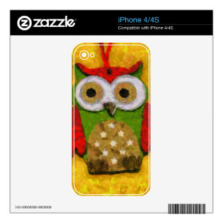 Owl painting iPhone 4S skin