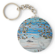 owl painting keychain