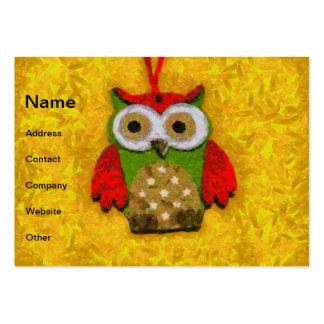 Owl painting large business card