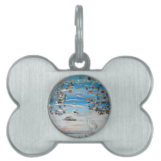 owl painting pet tag