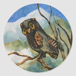 Owl Painting Stickers