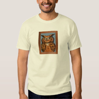 Owl Painting T Shirt