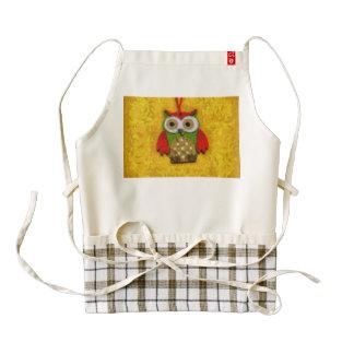 Owl painting zazzle HEART apron