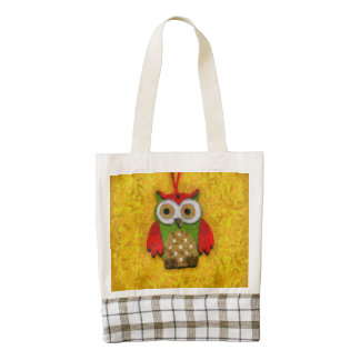 Owl painting zazzle HEART tote bag