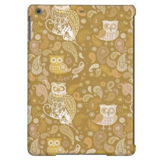 Owl paisley beige pattern iPad air cases