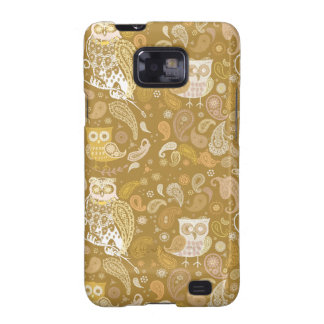 Owl paisley beige pattern galaxy SII case