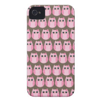 Owl party retro kawaii cute owling owls pattern Case-Mate iPhone 4 case