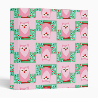 owl pattern binder