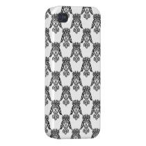 Owl Pattern Black iPhone 4 Covers