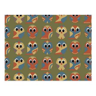 Owl Pattern Design Postcard