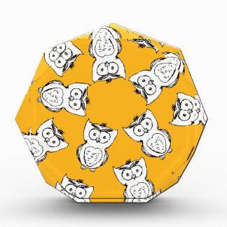 Owl Pattern Fun Acrylic Award