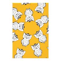Owl Pattern Fun Stationery