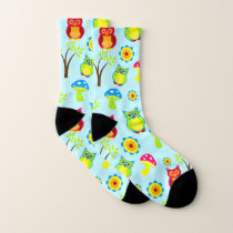 Owl Pattern Socks