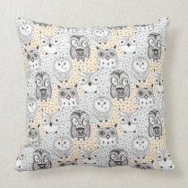 Owl Pattern throw pillows