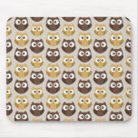 Owl patterned mouse pads