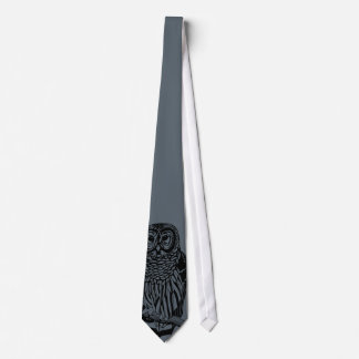 Owl Peek Tie Gray