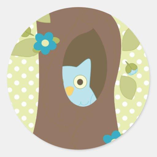 Owl Peeking Round Sticker