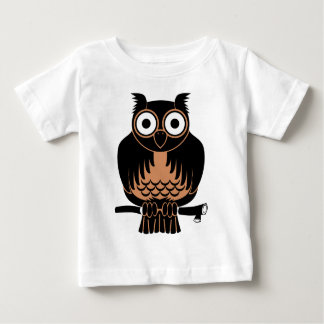 Owl Perched Upon Branch Baby T-Shirt