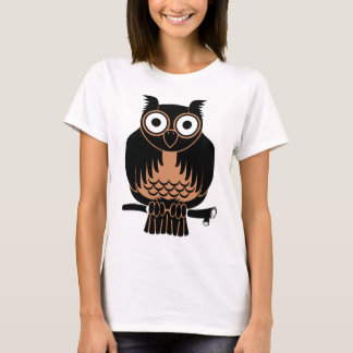 Owl Perched Upon Branch T-Shirt