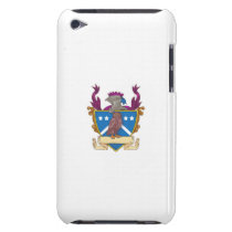 Owl Perching Knight Helmet Crest Drawing iPod Case-Mate Case