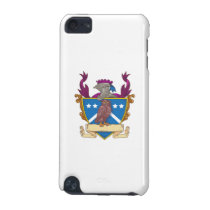 Owl Perching Knight Helmet Crest Drawing iPod Touch (5th Generation) Case