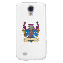 Owl Perching Knight Helmet Crest Drawing Samsung S4 Case