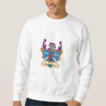 Owl Perching Knight Helmet Crest Drawing Sweatshirt