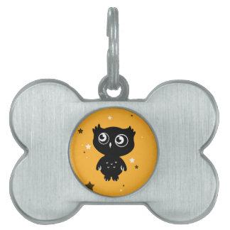 Owl Pet Name Tag