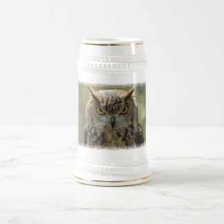 Owl Photo Beer Stein Mugs