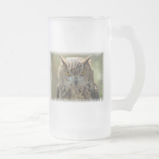 Owl Photo Frosted Beer Mug