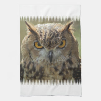 Owl Photo Kitchen Towel