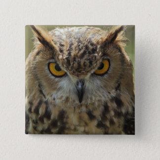 Owl Photo Square Pin