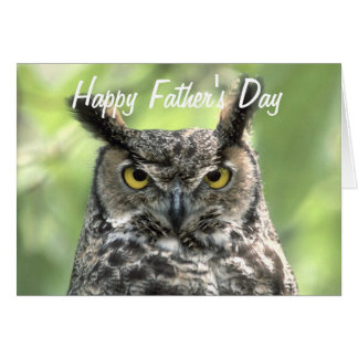 Owl Photograph Happy Father's Day Card