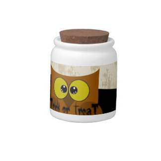 Owl Picture Candy Jar