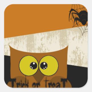 Owl Picture Square Sticker