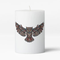 Owl Pillar Candle