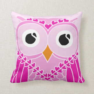 Owl Pillow: Cute Girl Owl Throw Pillow