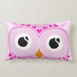 Owl Pillow: Pink Face Owl