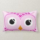 Owl Pillow: Pink Face Owl Lumbar Pillow