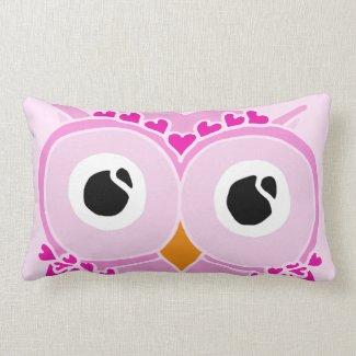 Owl Pillow: Pink Face Owl Pillow