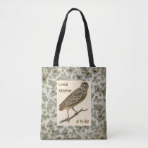 Owl Pine Cones Boughs Trees Skull Tote