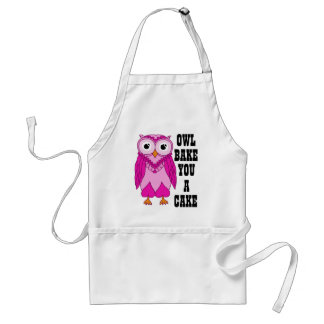 Owl Pink Adult Apron