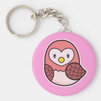 Owl pink keychain