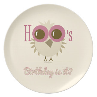 Owl Plate Retro Style Gifts Birthday Birds Gifts