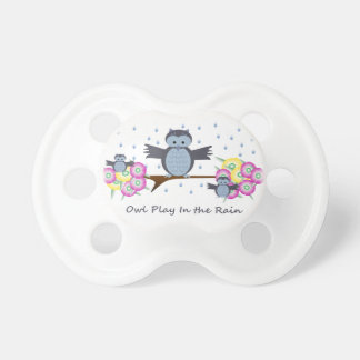 Owl Play in the Rain 0-6 months BooginHead® Pacifi BooginHead Pacifier
