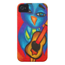 Owl playing guitar Case-Mate iPhone 4 case